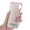 Smartphone case white biodegradable for iphone X and XS