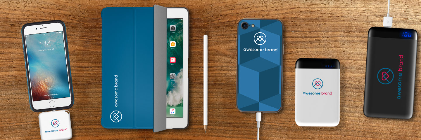 brandit custom branded powerbanks, iphone cases and ipad cases with your companys logo smartphone cases mit Logo tablet cases mit Logo Powerbanks mit logo