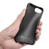 Biodegradable soft smartphone case in black for iPhone 6, 7, 8, SE