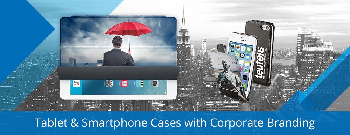 tablet smartphone branding with corporate logo